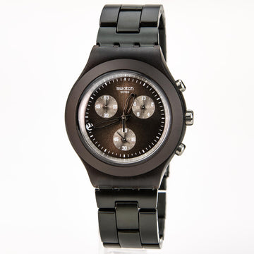 Swatch SVCC4000AG Unisex Vollblut Smoky Brown Zifferblatt Aluminium Armband Chrono Swiss Date Watch