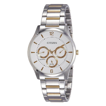 Citizen Men's Quartz Watch - White Dial Two Tone Bracelet | AG8358-87A