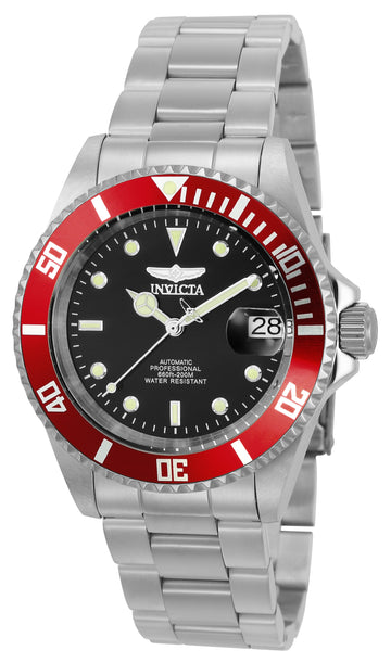 Invicta Men's Automatic Watch - Pro Diver Black Dial Steel Bracelet Dive | 22830