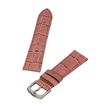 I.W. Suisse Pink 20 mm Wide Genuine Leather Band