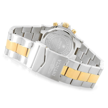 Invicta 21409 Women's Specialty White Oyster Dial Two Tone Yellow Gold Bracelet Chronograph Watch