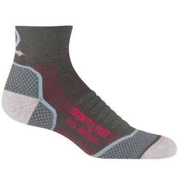 Farm To Feet Women's Socks - Damascus Dark Shadow Quarter Crew | 8992-021-DS