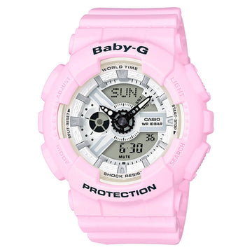 Casio BA110BE-4A Women's Baby-G Resin Strap World Time Watch
