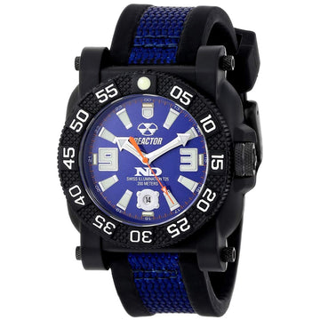 Reactor 73803 Men's Gryphon DNA Never Dark Blue Dial Rubber & Nylon Strap Dive Watch