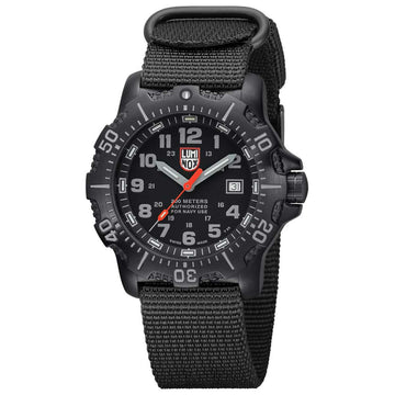 Luminox 4221.CW Men's Sea ANU 4200 Black Dial Black Nylon Strap Dive Watch