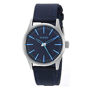 Nixon Men's Strap Watch - Sentry 38 Quartz Blue Nylon & Leather | A4262219