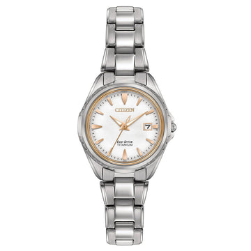 Citizen Women's Eco Drive Watch - Super Titanium Bracelet Silver Dial | EW2410-54A