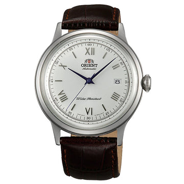 Orient AC00009W Men's Bambino II Silver Dial Brown Leather Strap Automatic Watch