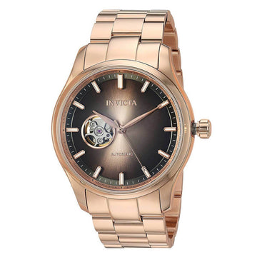 Invicta Men's Automatic Watch - Vintage Brown Dial Rose Gold Steel Bracelet | 25217