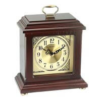 Seiko Mantel Clock - Ellingsworth Gold Dial Brown Wood | QXG147BLH