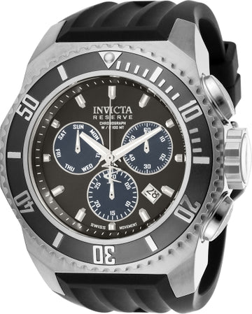 Invicta Men's Chronograph Watch - Russian Diver Reserve Grey Dial Black Strap | 25729