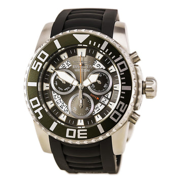 Invicta Men's Pro Diver Chronograph Watch - Swiss Grey Dial Polyurethane Band | 14670