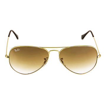 Ray-Ban RB 3025 001-51 58 Aviator Brown Gradient Lenses Arista Gold Metal Frame Unisex Sunglasses