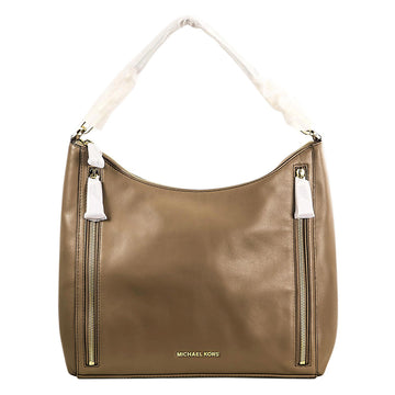 Michael Kors Women's Shoulder Hobo Bag - Dark Dune Soft Calf Leather Matilda Large