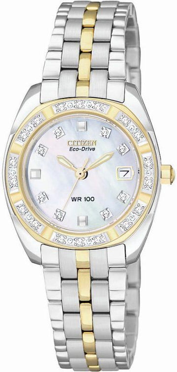 Citizen EW1594-55D Women's MOP Diamond Paladion Two-Toned Watch