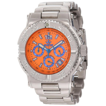 Reactor 75608 Men's Critical Mass DNA Orange Dial Steel Bracelet Chronograph Dive Watch