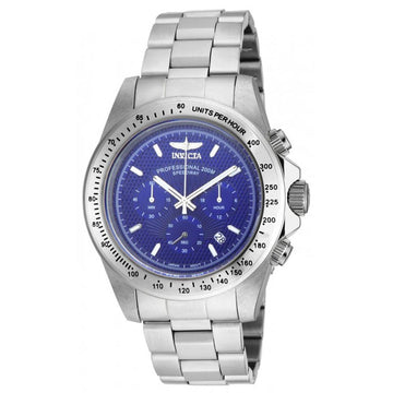 Invicta 18391 Men's Speedway Blue Dial Steel Bracelet Chronograph Dive Watch