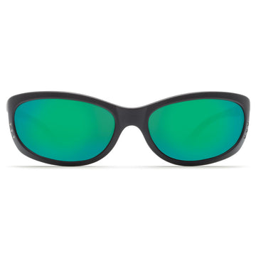 Costa Del Mar FA11OGMGLP Men's Fathom 580G Polarized Glass Green Mirror Lens Matte Black Frame Sunglasses