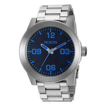 Nixon Men's Bracelet Watch - Corporal SS Blue Dial Stainless Steel | A3462219