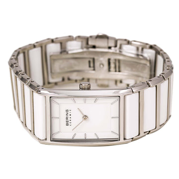 Bering 30121-754 Women's Ceramic White Dial Steel & White Ceramic Bracelet Watch