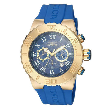 Invicta Men's Chronograph Watch - Pro Diver Blue Dial Blue Polyurethane Strap | 24776