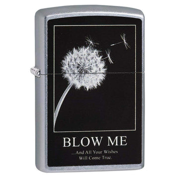 Zippo Windproof Pocket Lighter - Blow Me And All Your Wishes Will Come True | 29621