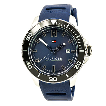 Tommy Hilfiger 1791263 Men's Wade Blue Dial Blue Silicone Strap Watch