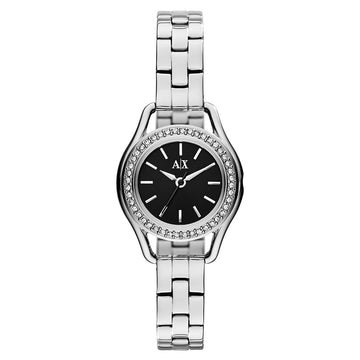 Armani Exchange AX4256 Women's Crystal Black Dial Stainless Steel Bracelet Watch