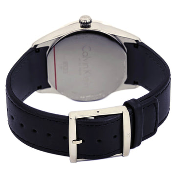 Calvin Klein K5A311C1 Men's Bold Quartz Leather Strap Watch