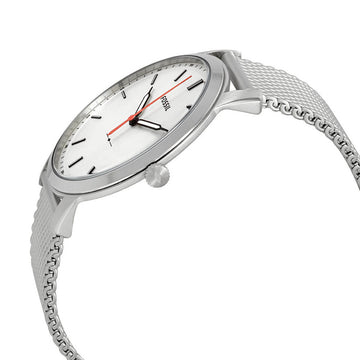 Fossil Men's Mesh Bracelet Watch - The Minimalist White Dial Stainless Steel | FS5359