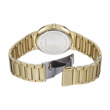 Citizen Men's Bracelet Watch - Quartz Black Dial Yellow Gold Steel | BI5012-53E