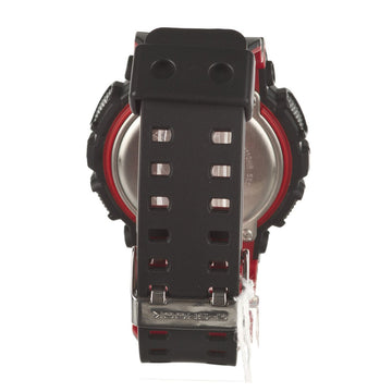 Casio GA110HR-1A Men's G-Shock Black & Red Resin Strap World Time Black Ana-Digi Dial Dive Watch