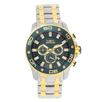 Invicta Men's Chronograph Watch - Pro Diver Quartz Green Dial | 26083