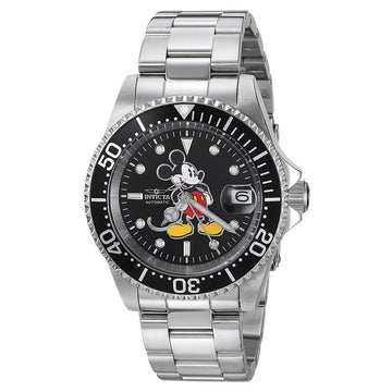 Invicta 24607 Men's Disney Automatic Black Dial Date Watch