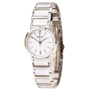 Bering 30226-754 Women's Ceramic Quartz Steel & White Ceramic Bracelet Watch