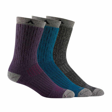 Wigwam Women's Crew Socks - Montane Wool Blend Outdoor 3-Pack, Assortment | S2330