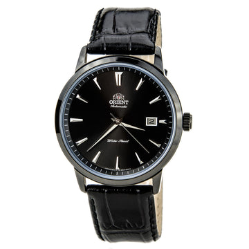 Orient ER27001B Men's Symphony Black Dial Leather Strap Black IP Automatic Mechanical Watch