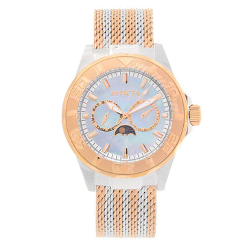 Invicta 24996 Men's Pro Diver Sea Wizard III MOP Dial Two Tone Rose Gold Mesh Bracelet Quartz Watch