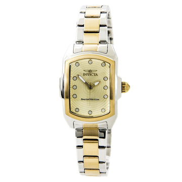 Invicta Women's Two Tone Stainless Steel Watch - Baby Lupah Gold Dial | 15844