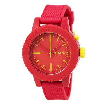 Nixon A287685 Women's Gogo Red Polyurethane Rubber Strap Red Dial Quartz Watch