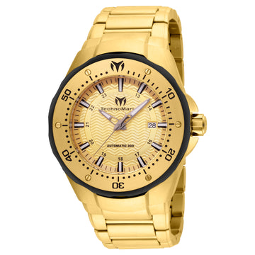 Technomarine Men's Automatic Watch - Sea Manta Gold Dial Yellow Steel | TM-215095