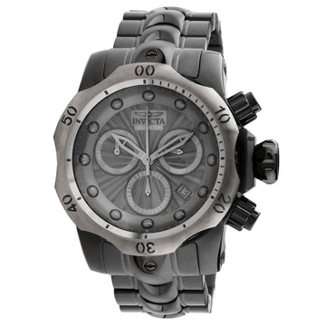 Invicta 23899 Men's Venom Gunmetal Dial Gunmetal IP Steel Bracelet Chronograph Dive Watch
