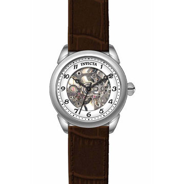 Invicta Women's Mechanical Skeleton Dial Watch - Specialty Brown Leather Band | 17198
