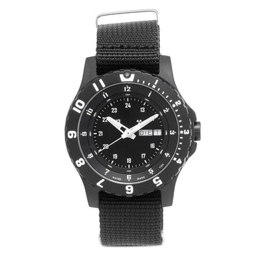 Traser Men's Strap Watch - Type 6 MIL-G Black Dial Black Nylon | 100269