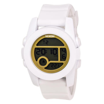 Nixon A4901035 Men's The Unit 40 White Rubber Strap Grey Digital Dial