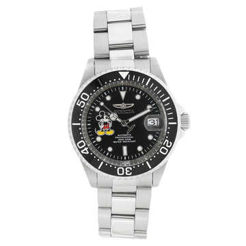 Invicta 22777 Men's Disney Limited Edition Black Dial Steel Bracelet Automatic Dive Watch