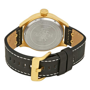 Invicta Men's Strap Watch - I-Force Quartz Black Dial Black Leather Day Date | 22184