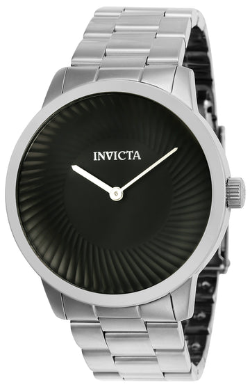 Invicta Men's Bracelet Watch - Specialty Black Dial Stainless Steel | 25173