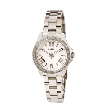Fossil AM4576 Women's Steel Bracelet Quartz Cecile Mini Crystal Silver Dial Watch