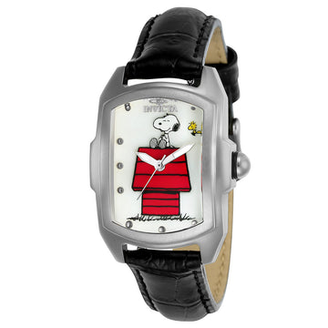 Invicta 24975 Women's Snoopy Baby Lupah White Oyster Dial Interchangeable Leather Strap Watch